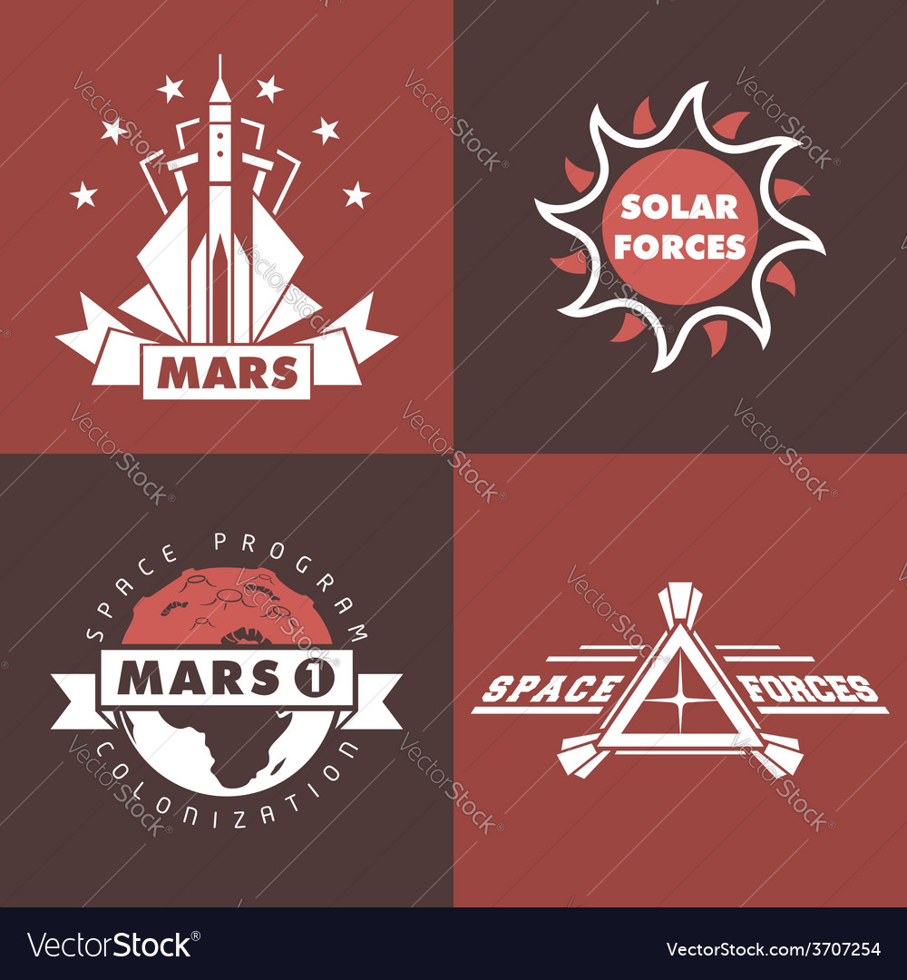 Set of space badges and labels vector   Price: 1 Credit (USD $1)