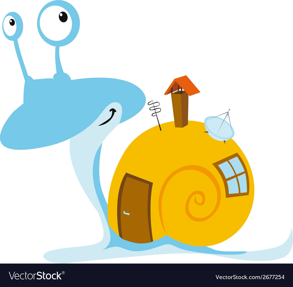 Snail with mobil home vector | Price: 1 Credit (USD $1)