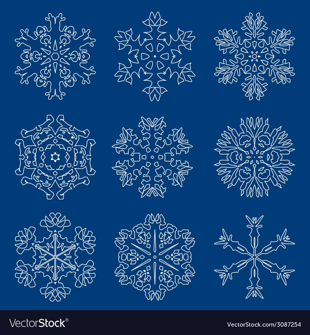 Snowflake icon winter theme winter snowflakes of vector | Price: 1 Credit (USD $1)