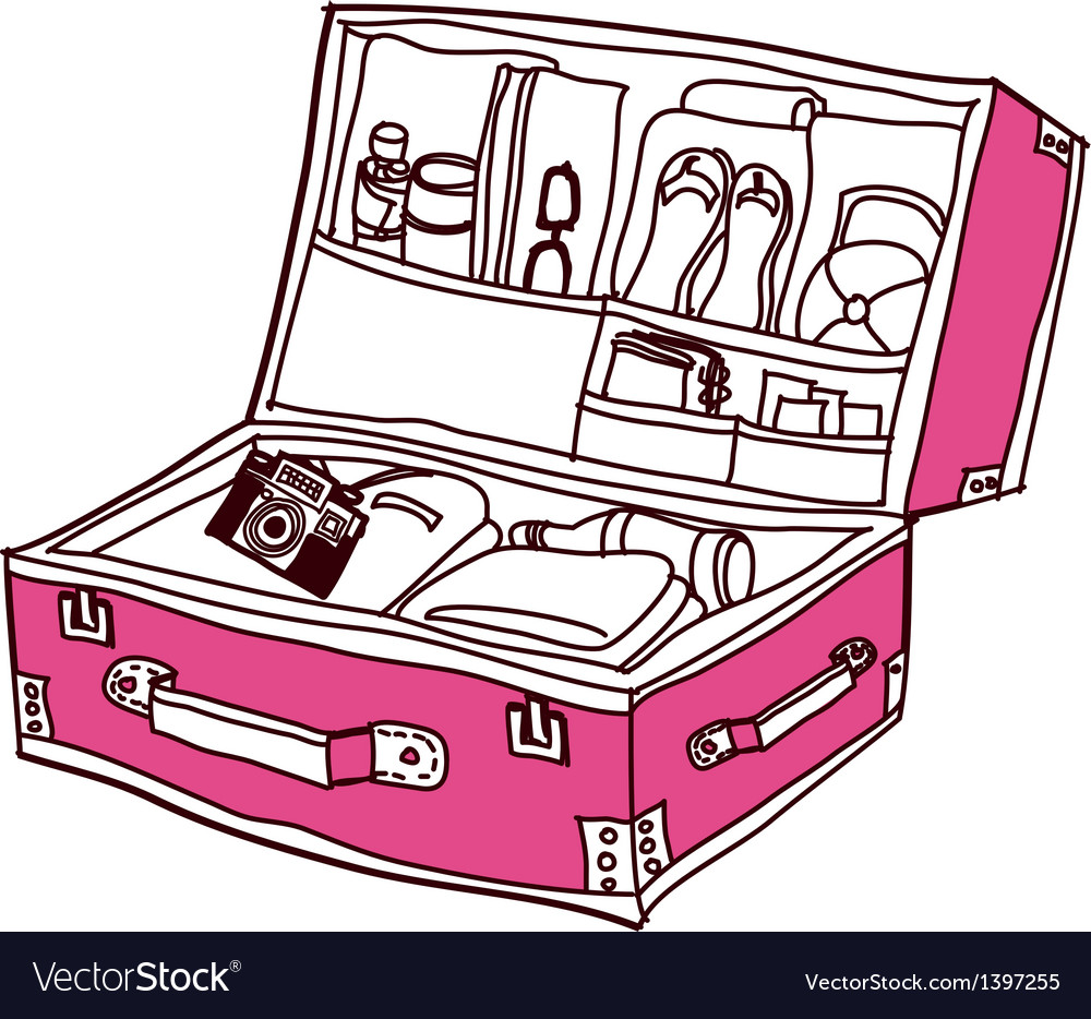 A suit case is opend vector | Price: 1 Credit (USD $1)