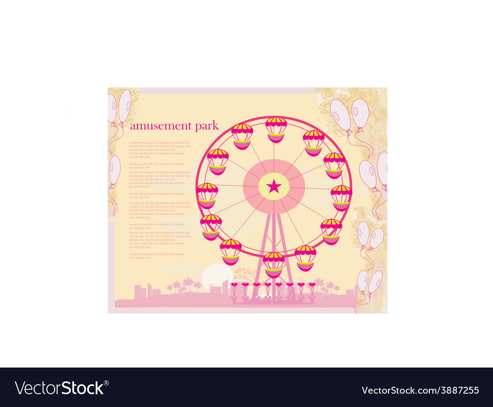 Abstract card - amusement park vector | Price: 1 Credit (USD $1)
