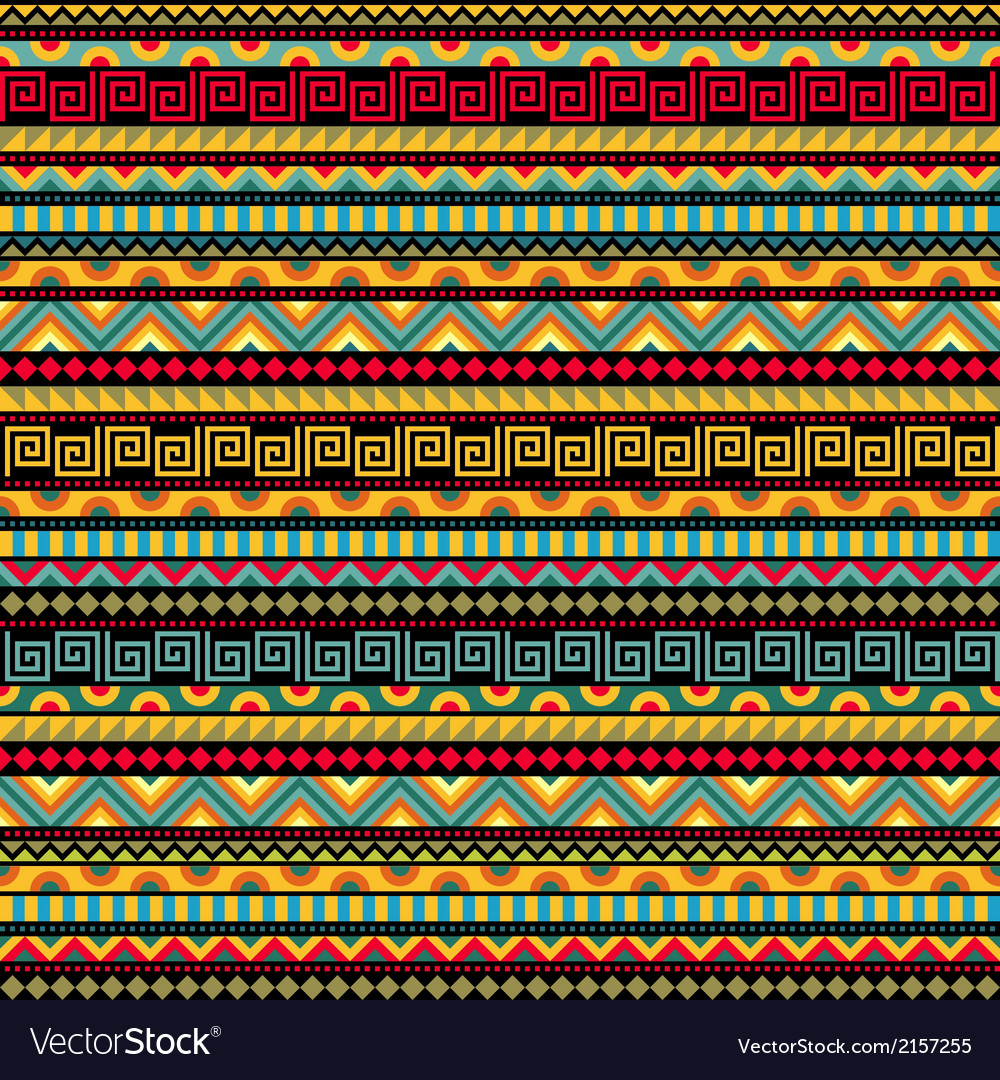 Abstract seamless ethnic pattern vector | Price: 1 Credit (USD $1)