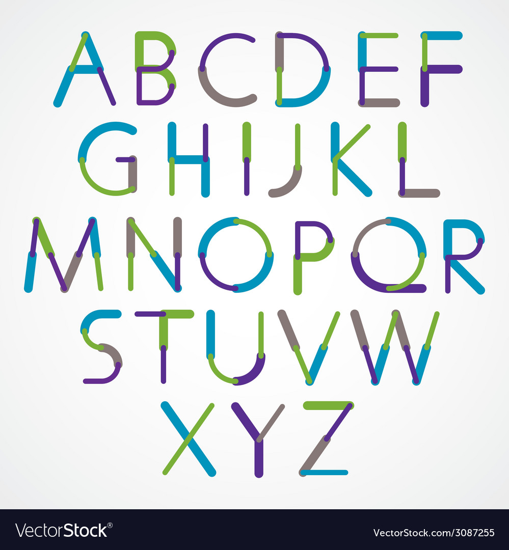 Blue-green font created with circles and lines vector   Price: 1 Credit (USD $1)