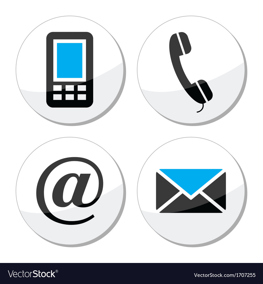 Contact web and internet icons set vector | Price: 1 Credit (USD $1)