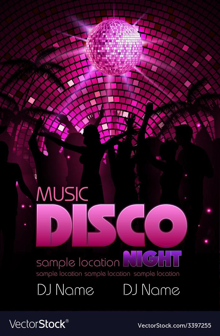 Disco background disco poste vector | Price: 3 Credit (USD $3)