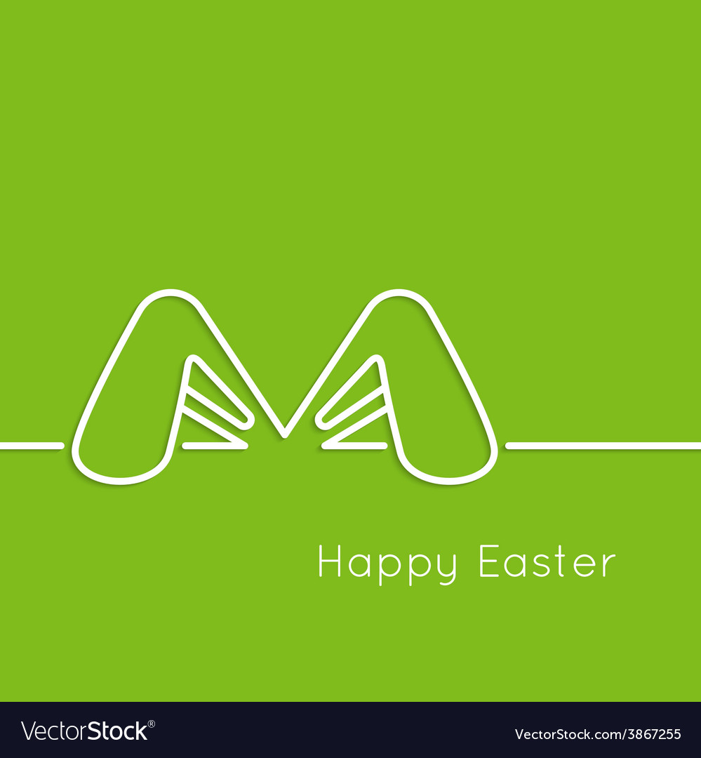 Easter bunny ears vector | Price: 1 Credit (USD $1)