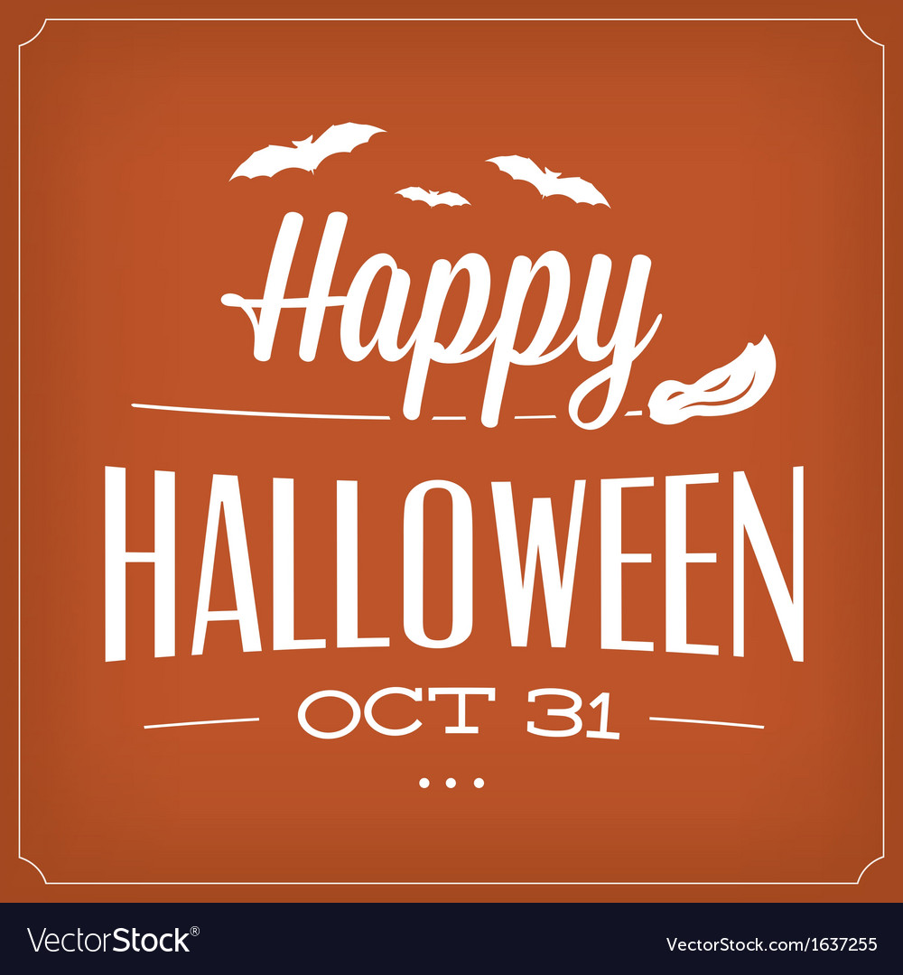 Halloween typographic template vector | Price: 1 Credit (USD $1)