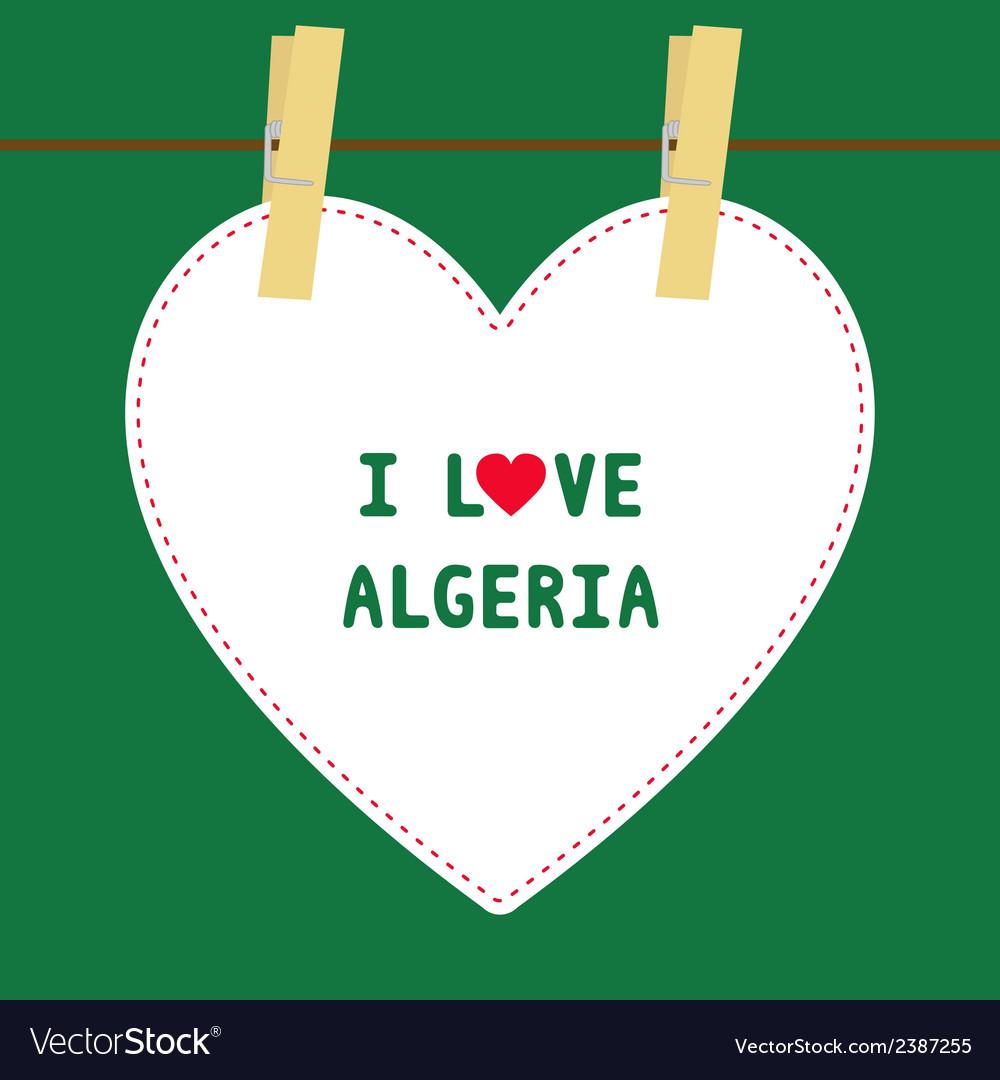 I love algeria5 vector | Price: 1 Credit (USD $1)