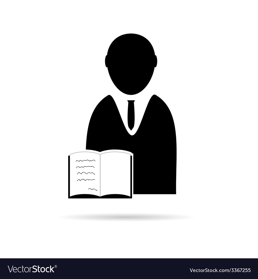 Man with book icon vector | Price: 1 Credit (USD $1)