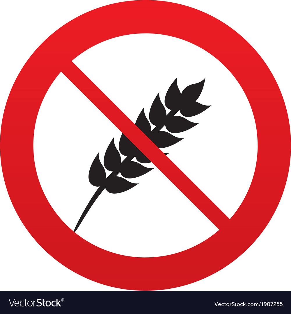No gluten free sign icon no gluten symbol vector | Price: 1 Credit (USD $1)