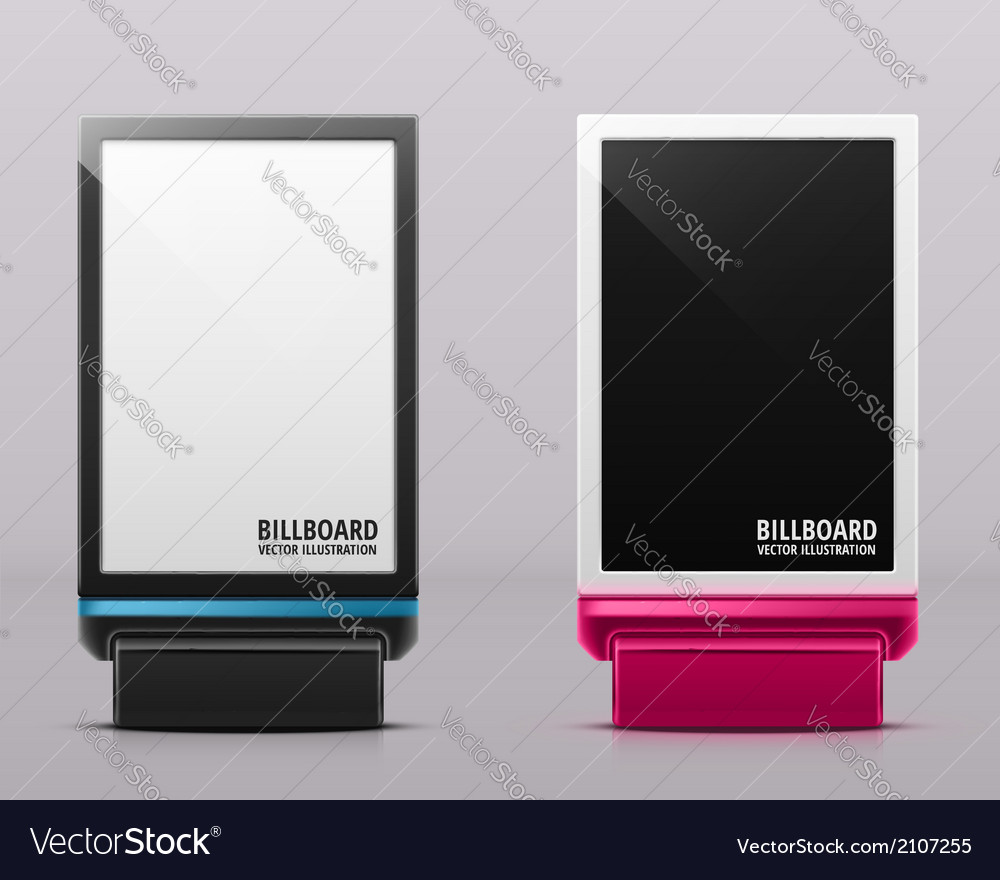 Two billboards vector | Price: 1 Credit (USD $1)