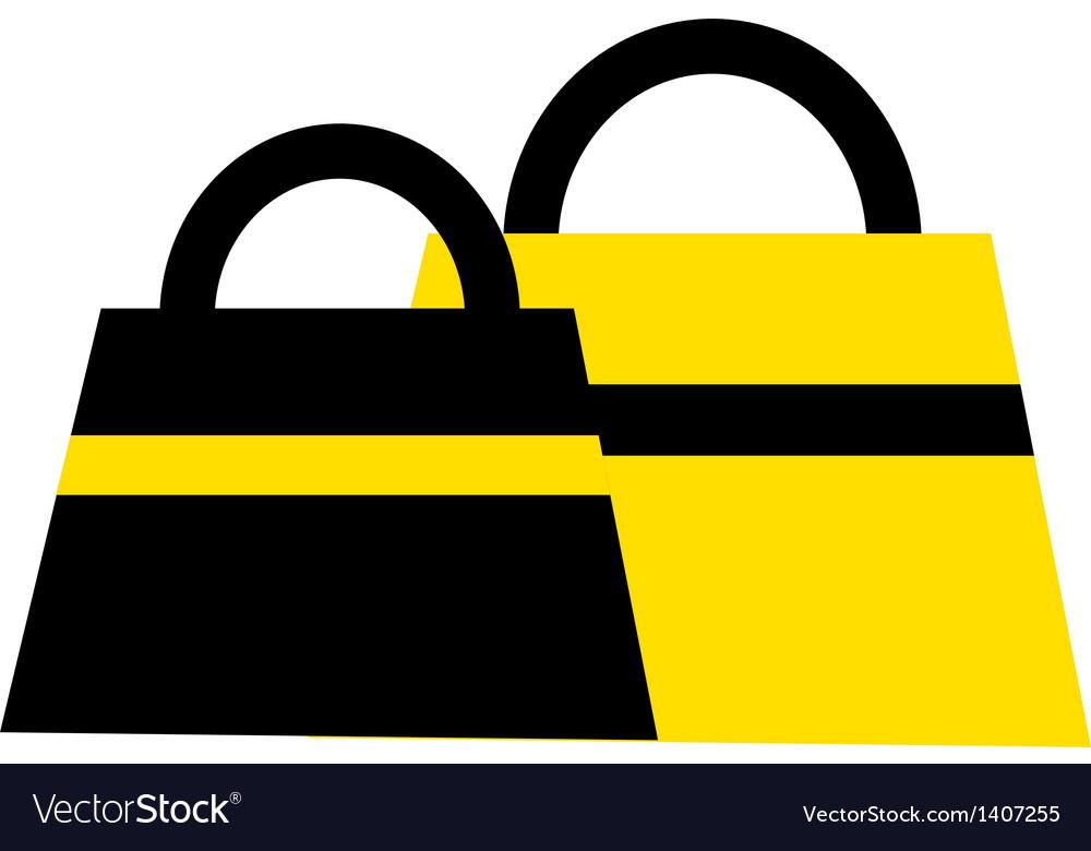 Two hand bag vector
