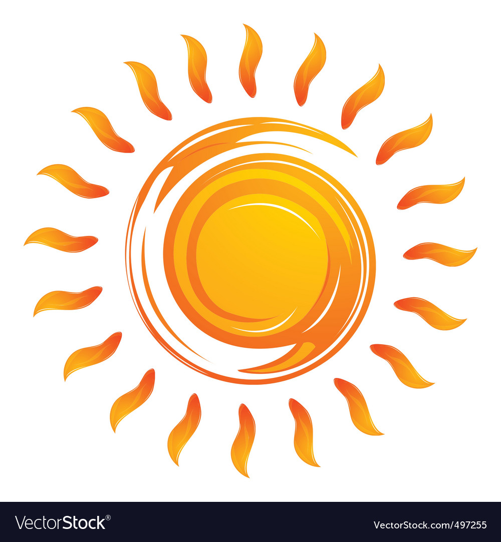 Warming sun vector | Price: 1 Credit (USD $1)