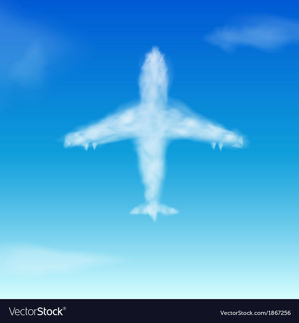 Airplane cloud vector | Price: 1 Credit (USD $1)