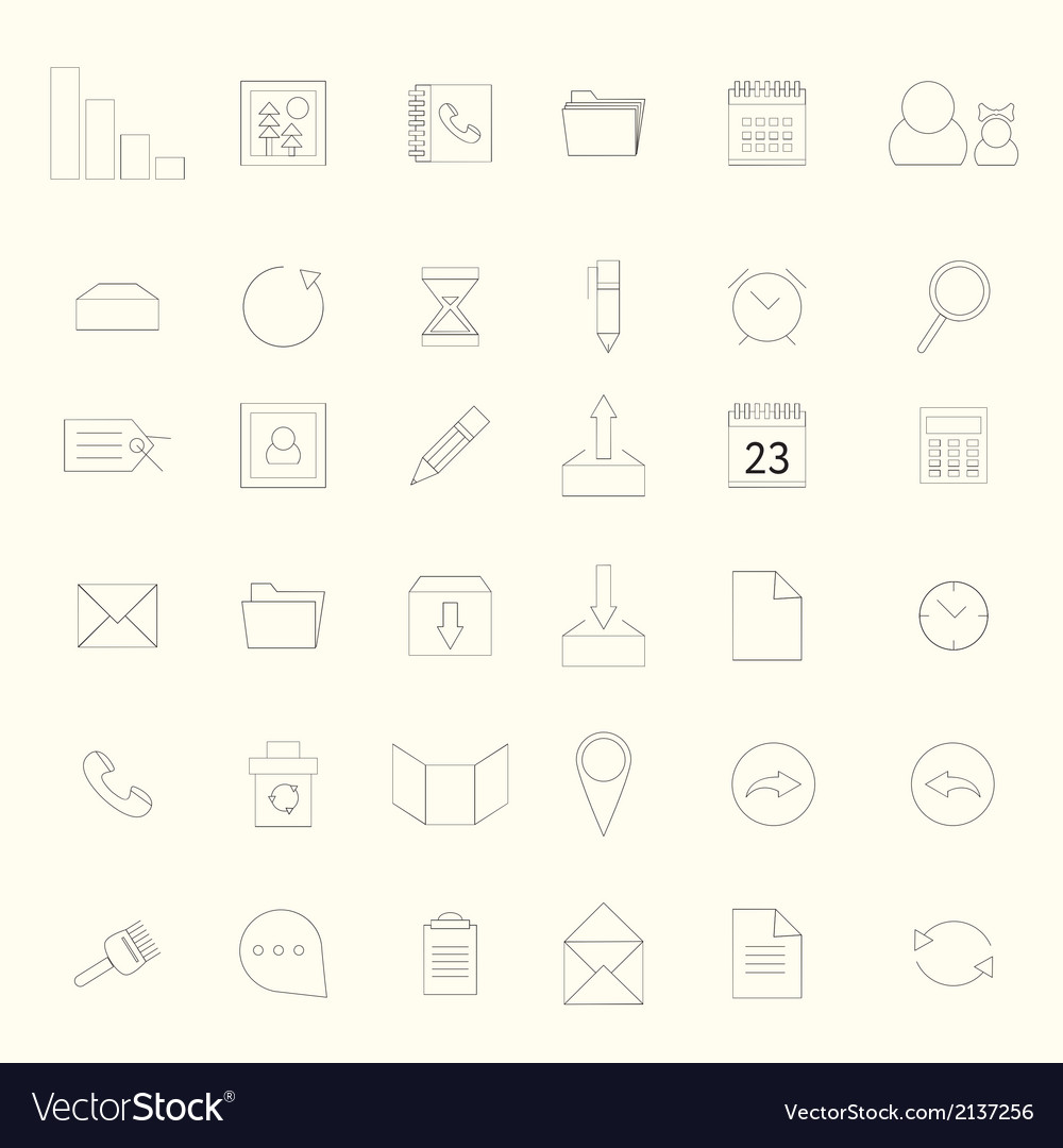 Basic web icons vector | Price: 1 Credit (USD $1)