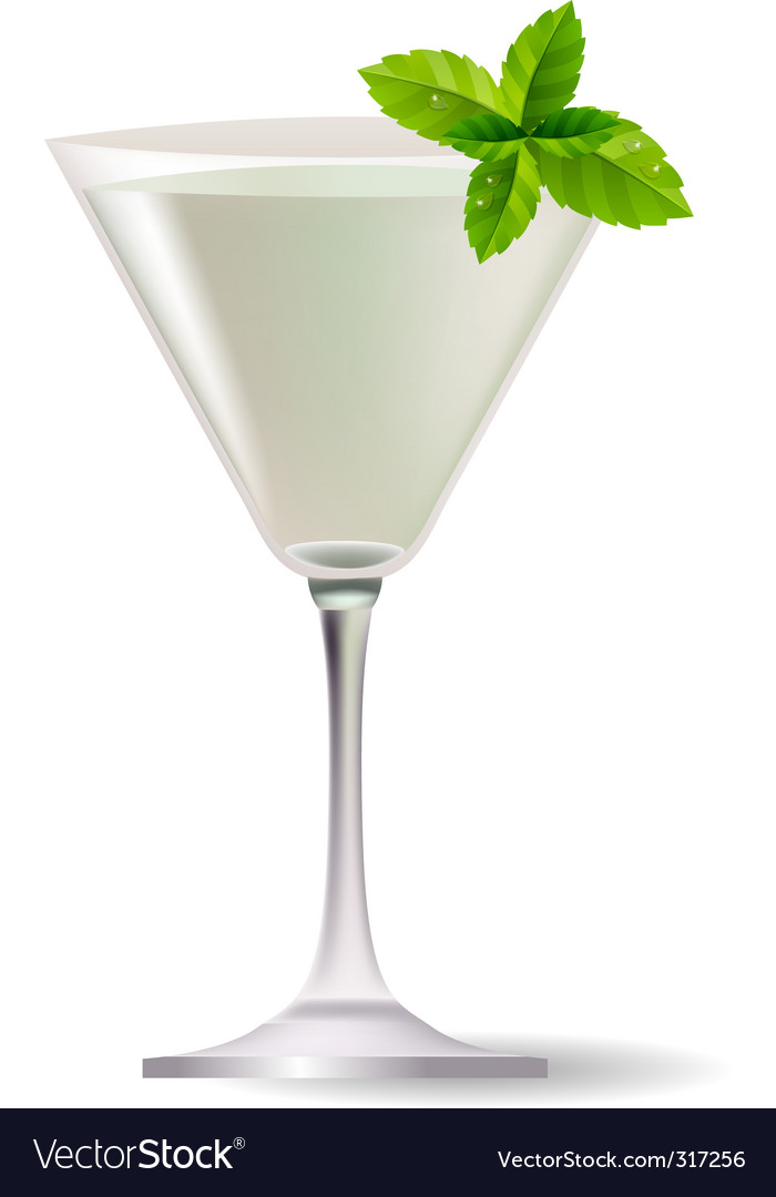 Cocktail with mint leaves vector | Price: 1 Credit (USD $1)
