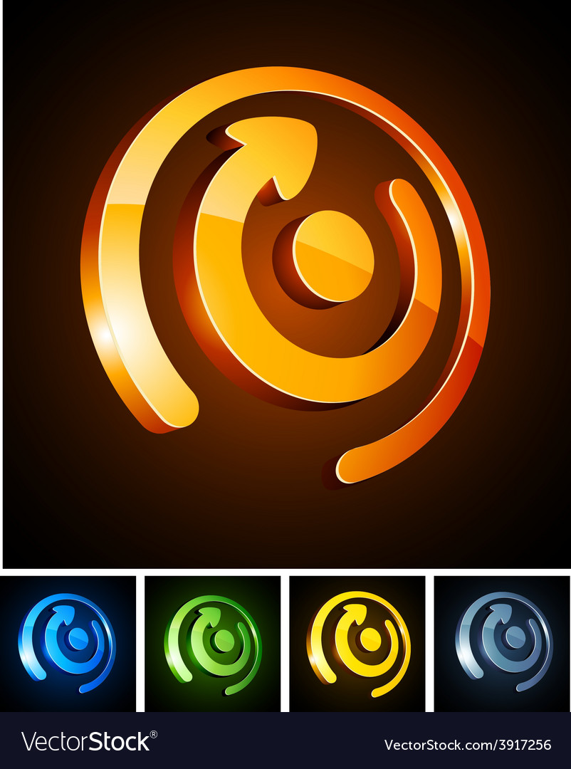 Color vibrant emblems vector | Price: 1 Credit (USD $1)