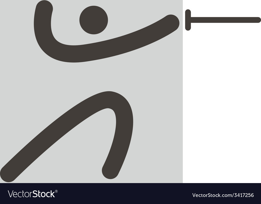 Fencing icon vector | Price: 1 Credit (USD $1)
