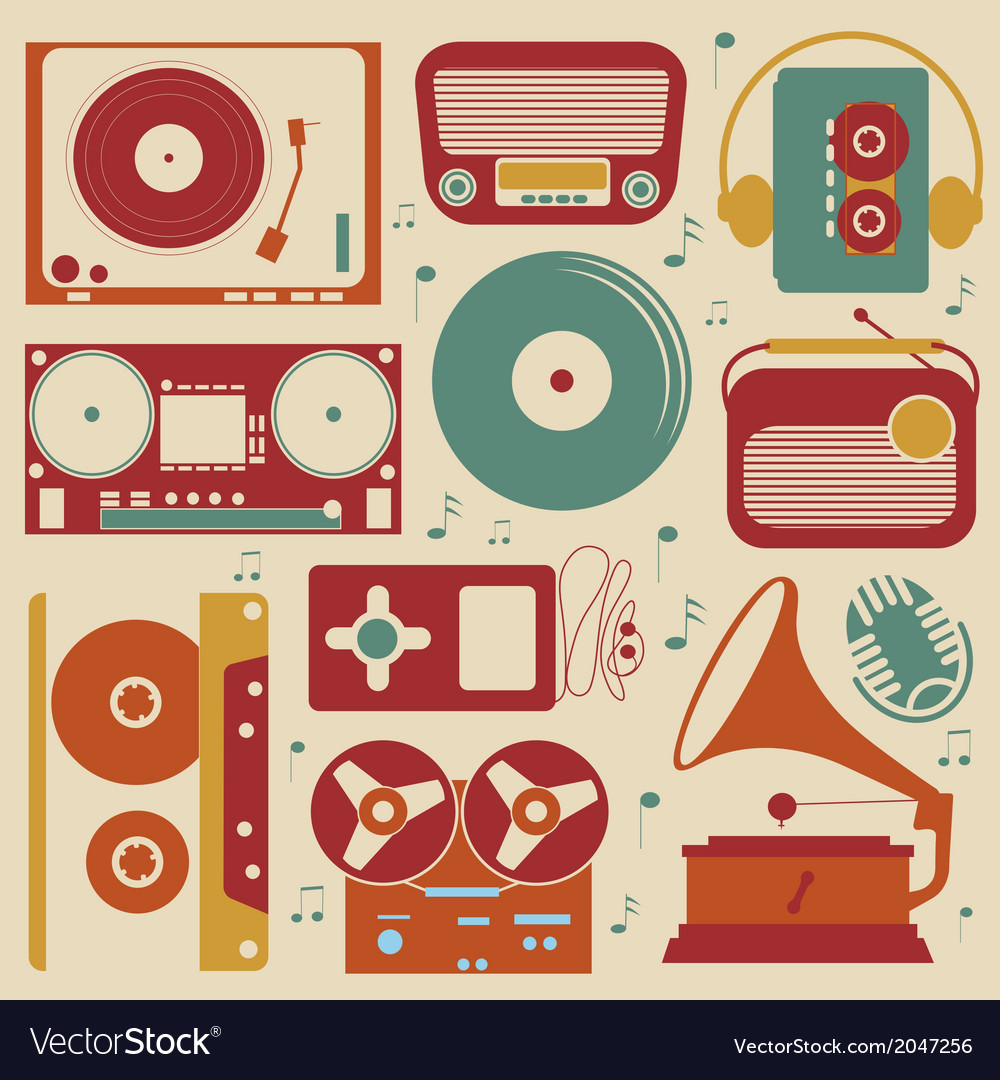 Musical set vector | Price: 1 Credit (USD $1)