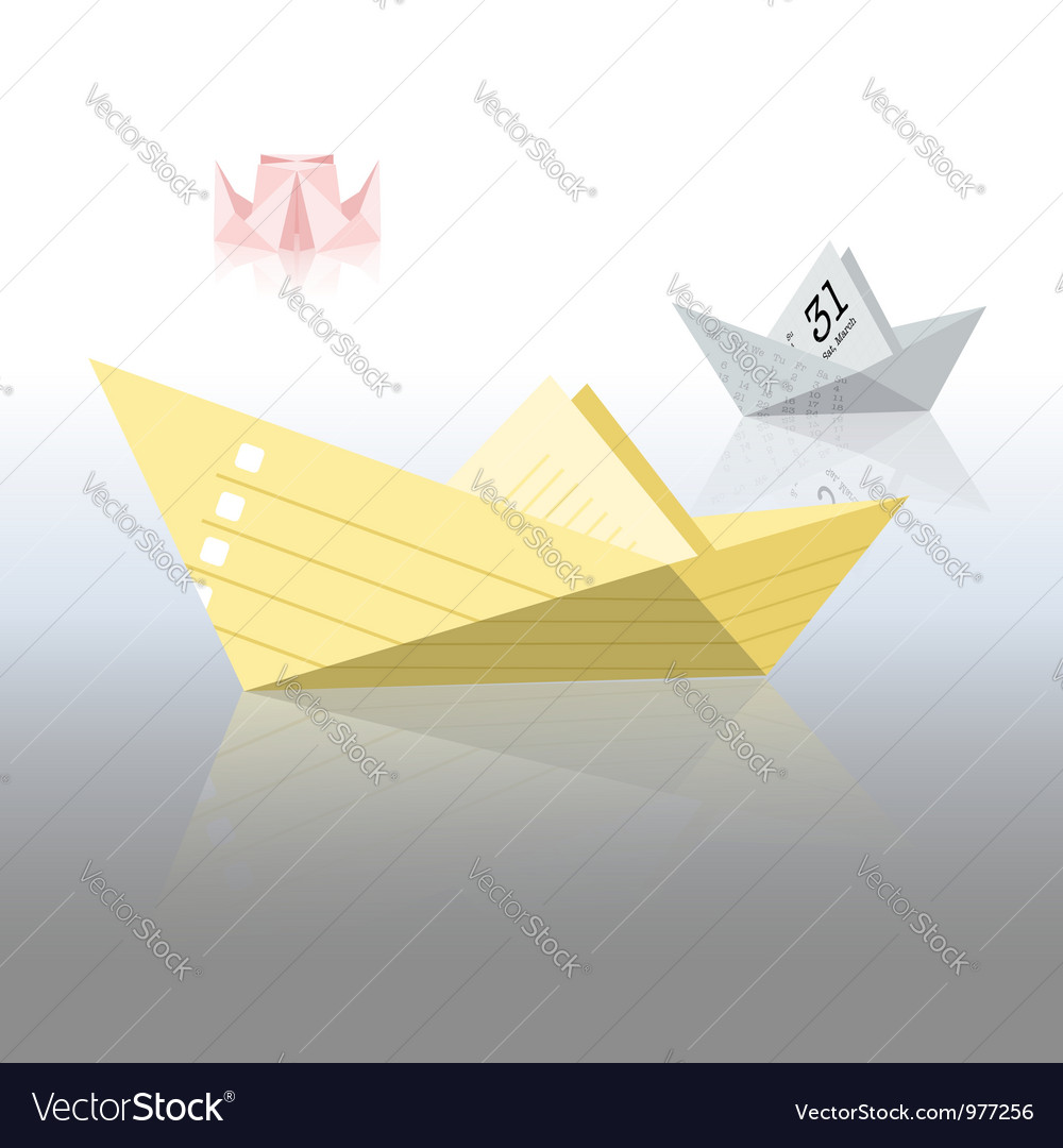 Paper boats vector | Price:  Credit (USD $)