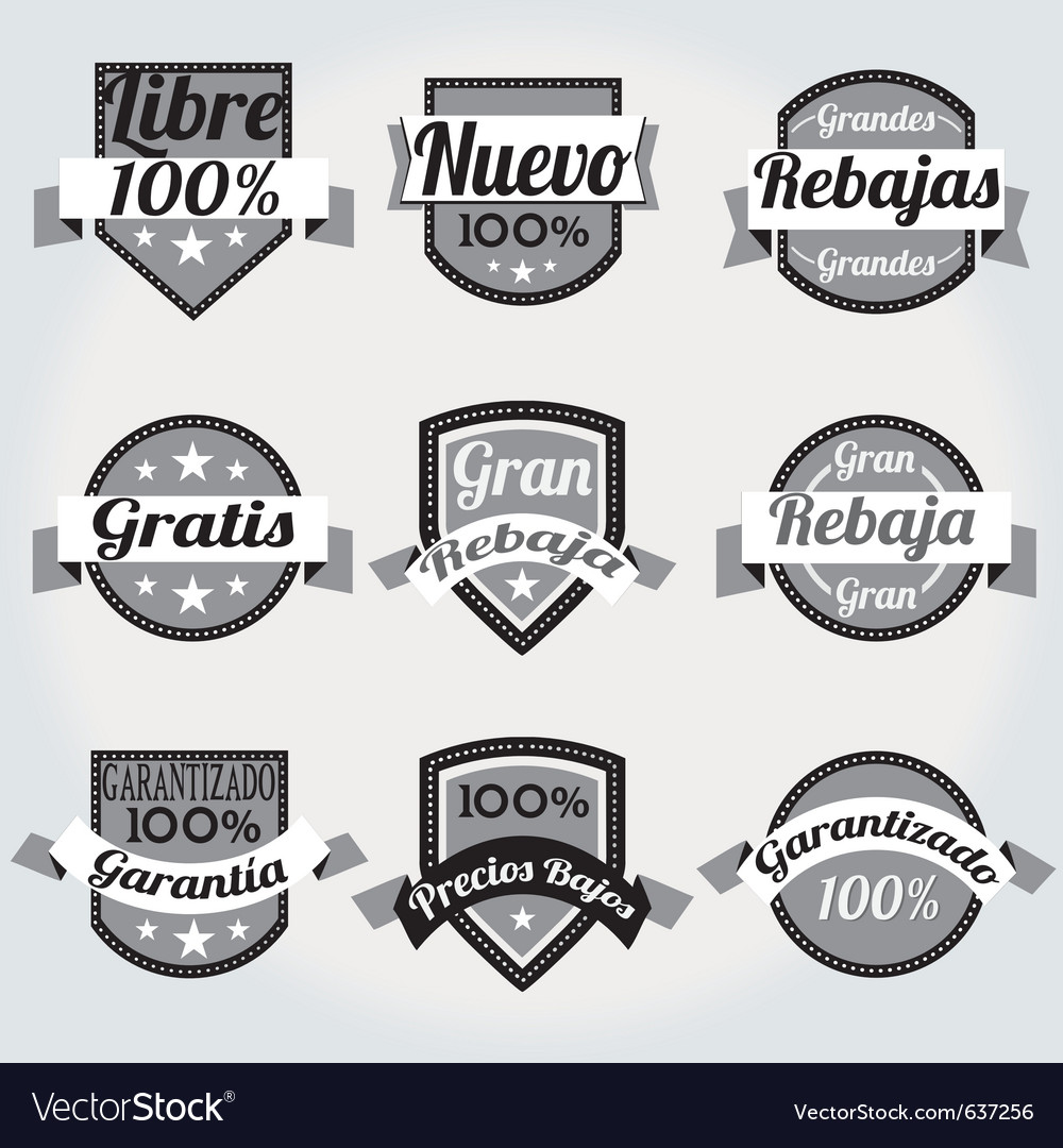 Retro sales free labels vector | Price: 1 Credit (USD $1)