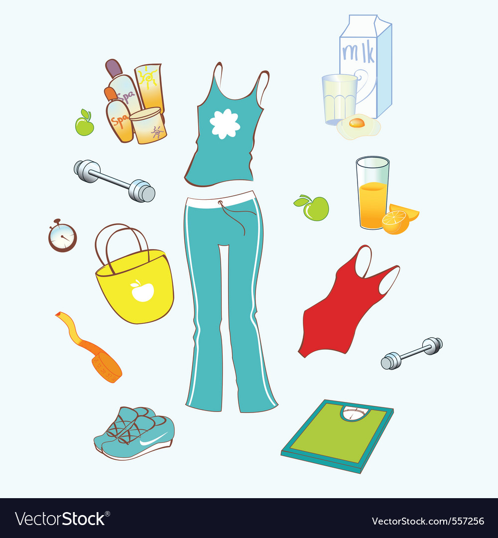 Sport and healthy lifestyle vector | Price: 1 Credit (USD $1)