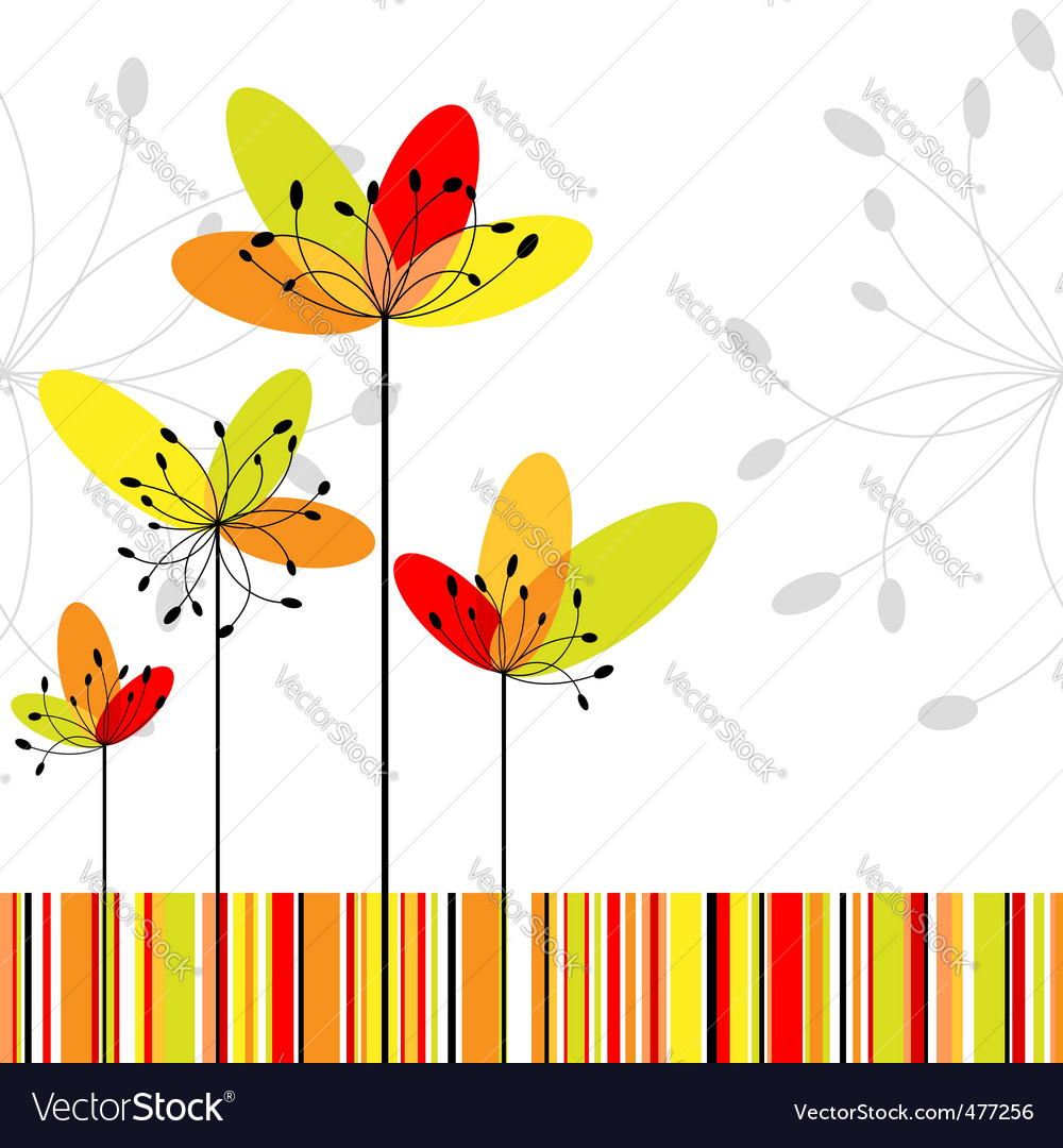 Springtime abstract vector | Price:  Credit (USD $)