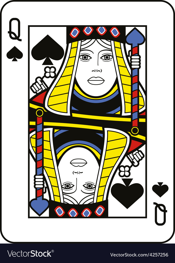 Stylized queen of spades vector | Price: 1 Credit (USD $1)