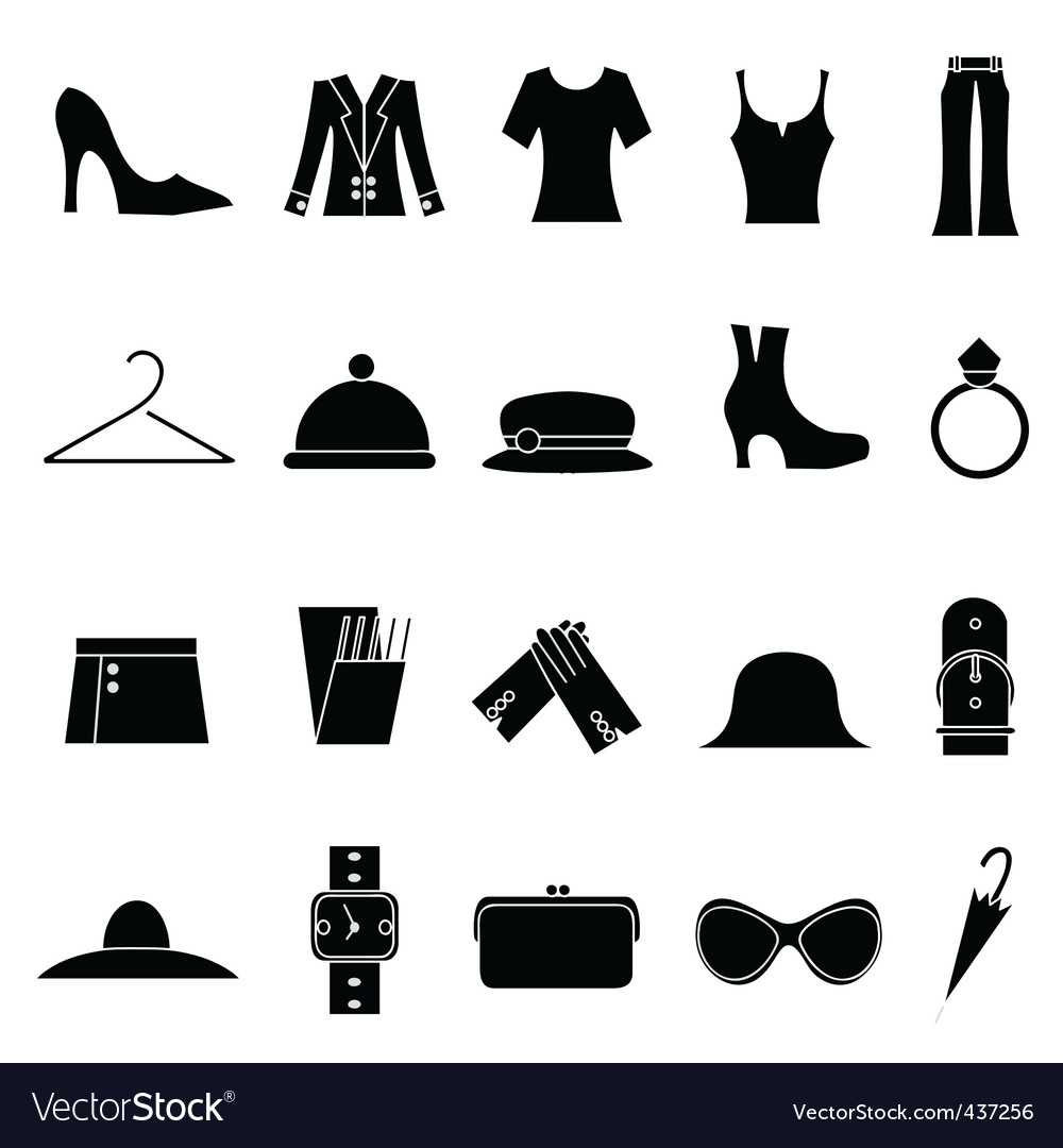 Woman fashion and clothes icon vector | Price: 1 Credit (USD $1)