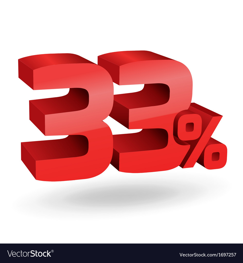 33 percent digits vector | Price: 1 Credit (USD $1)