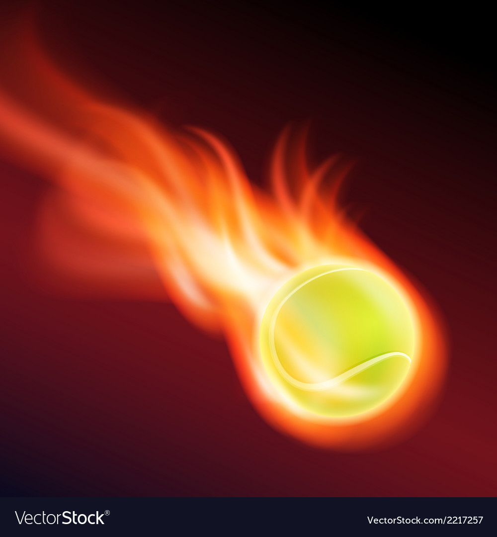 Burning tennis ball vector | Price: 1 Credit (USD $1)