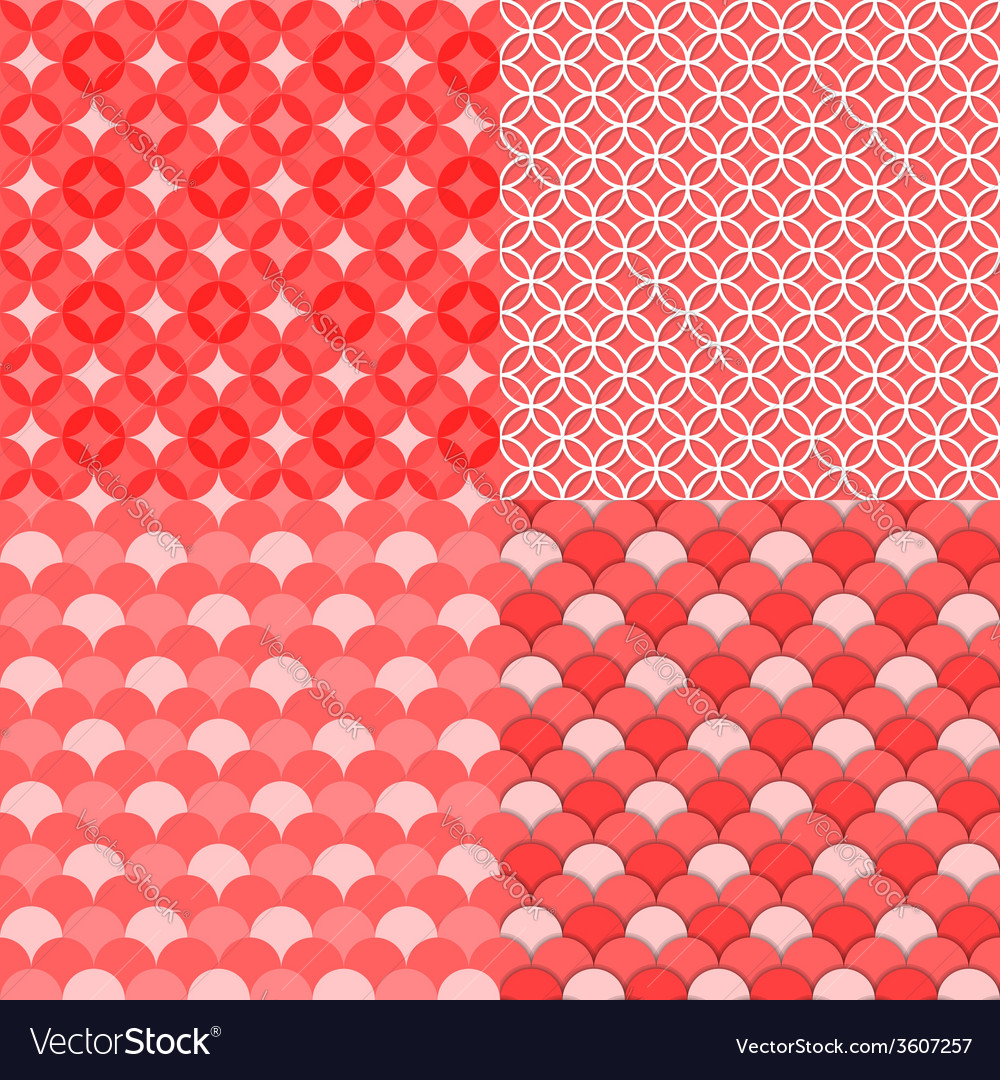 Circles geometric seamless pattern abstract backg vector | Price: 1 Credit (USD $1)