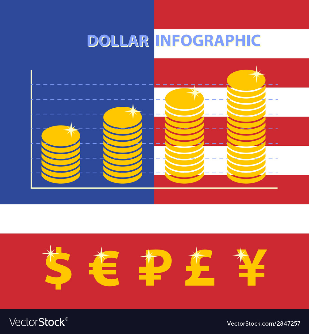 Dollar infographic vector | Price: 1 Credit (USD $1)
