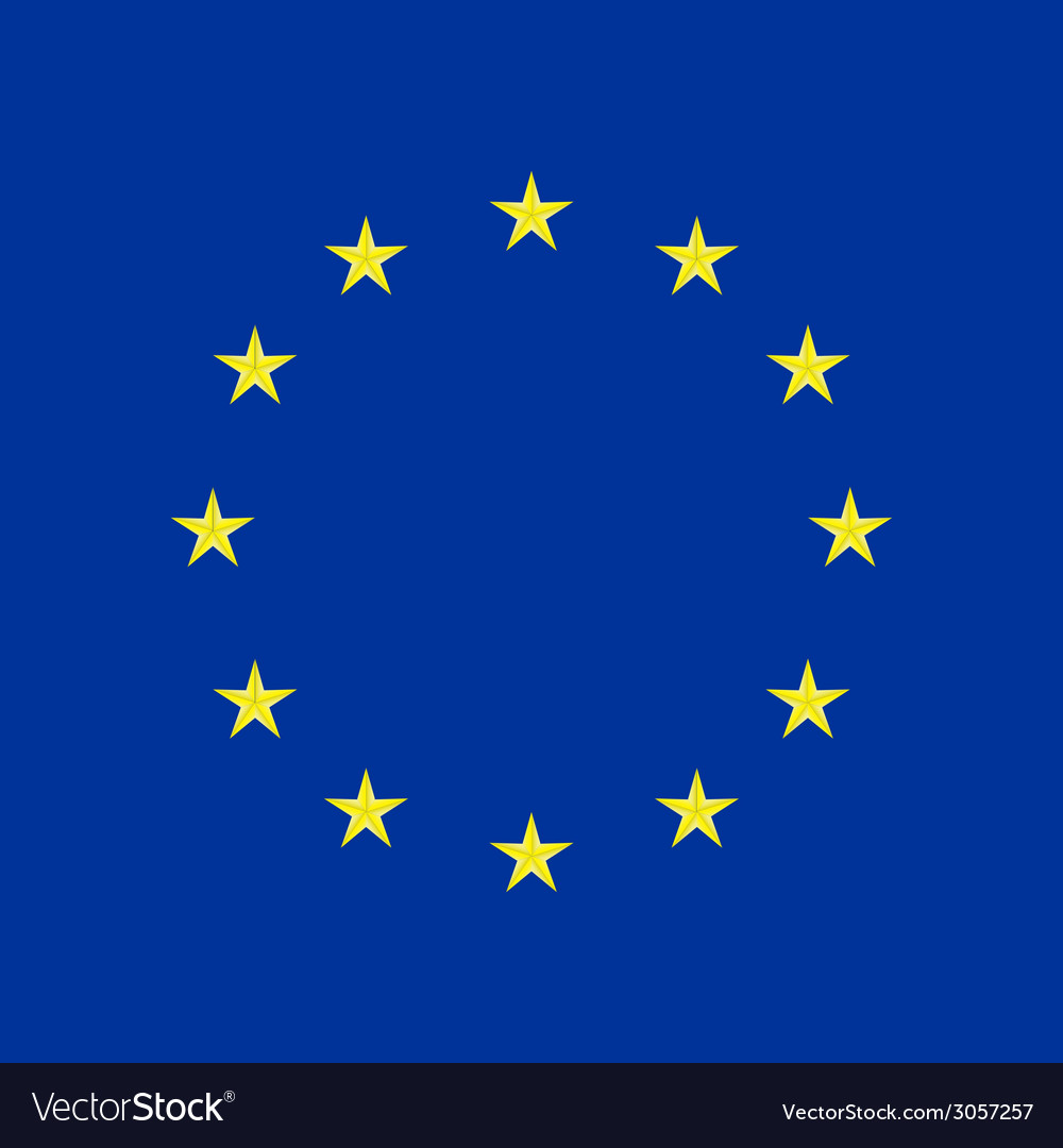 Eu flag in closeup vector | Price: 1 Credit (USD $1)