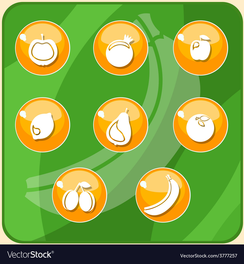 Fruit buttons vector | Price: 1 Credit (USD $1)