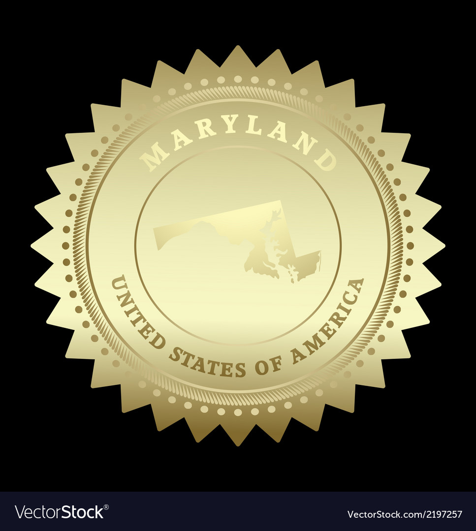 Gold star label maryland vector | Price: 1 Credit (USD $1)