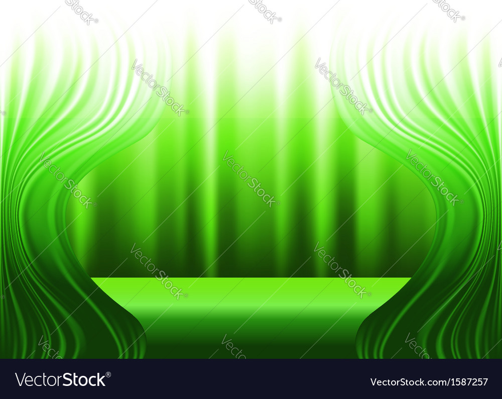 Green curtains and stage vector | Price: 1 Credit (USD $1)