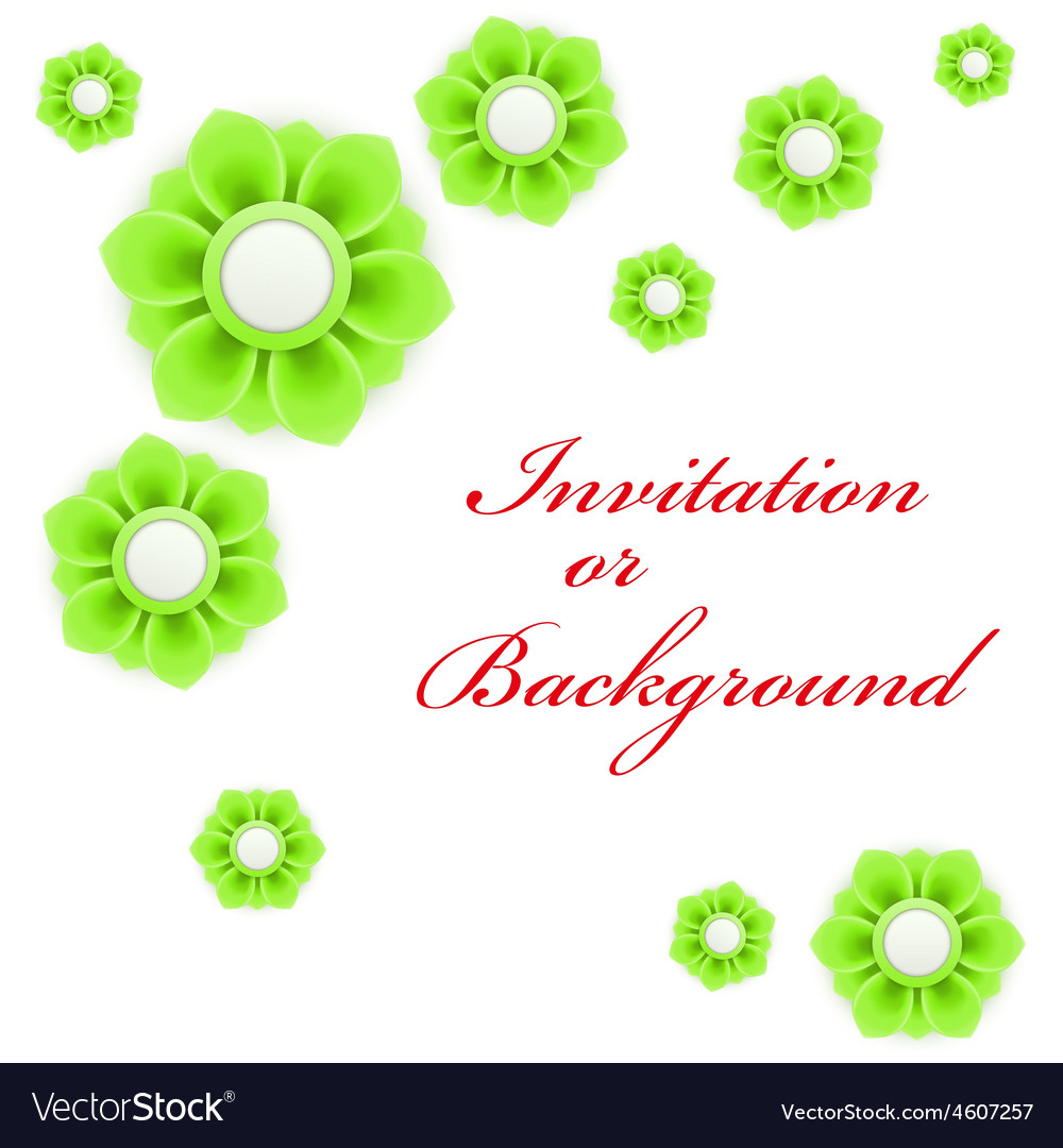 Greeting card or background with light green vector | Price: 1 Credit (USD $1)