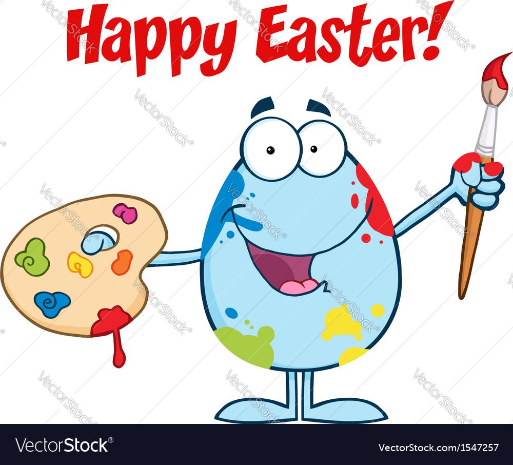 Happy easter activity cartoon egg vector | Price: 1 Credit (USD $1)