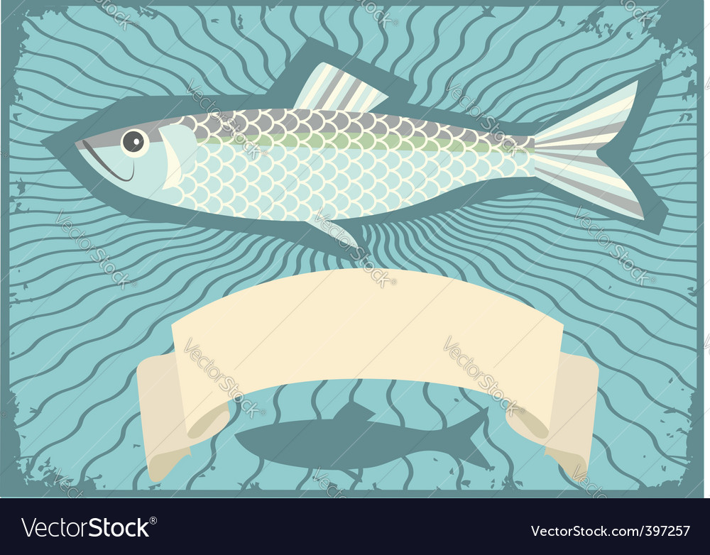 Herring poster vector | Price: 1 Credit (USD $1)