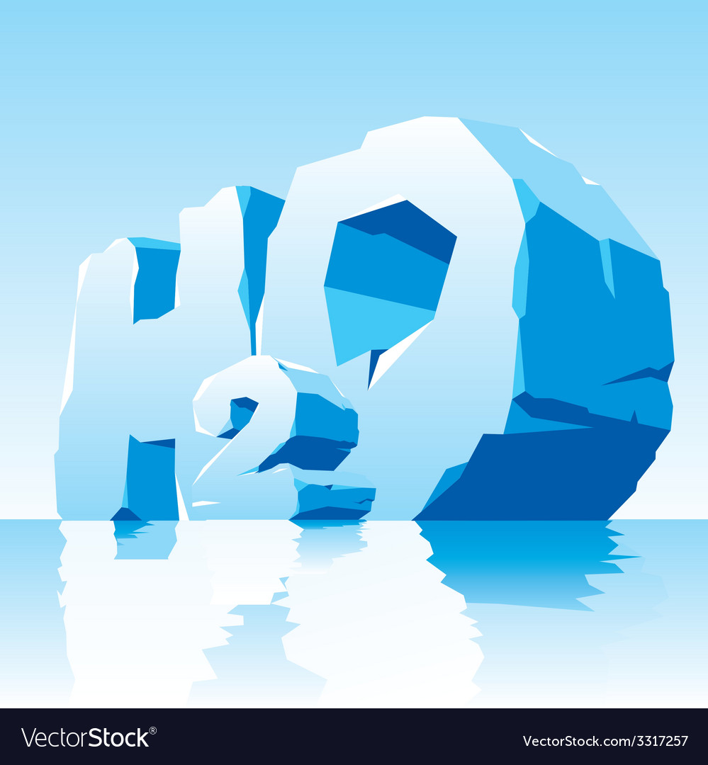 Ice water symbol h2o vector | Price: 3 Credit (USD $3)
