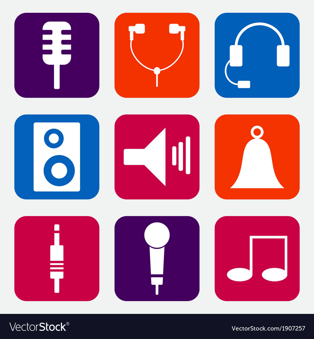 Music icons vector | Price: 1 Credit (USD $1)