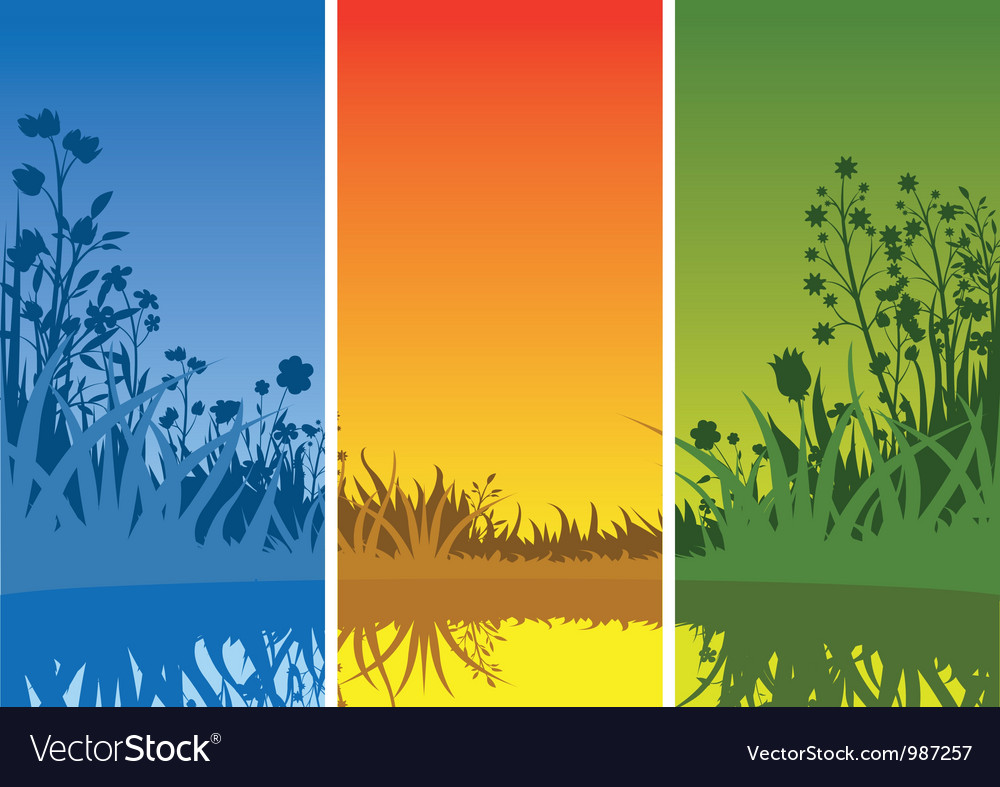 Small lake and grass vector | Price: 1 Credit (USD $1)