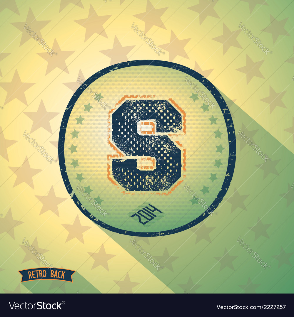 Sporty retro shabby letter s vector | Price: 1 Credit (USD $1)
