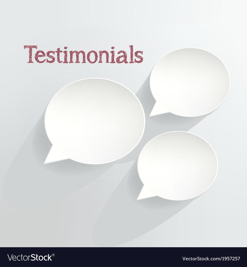Testimonials vector | Price: 1 Credit (USD $1)