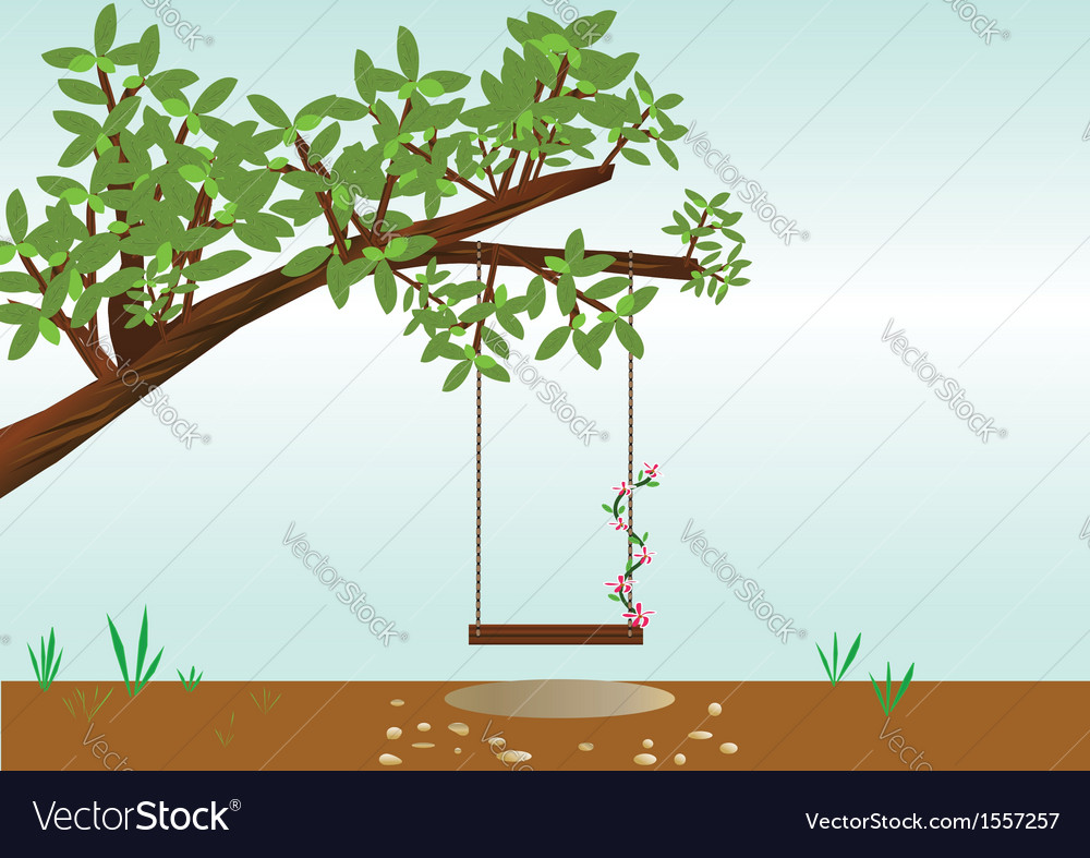 V tree with a swing vector | Price: 1 Credit (USD $1)