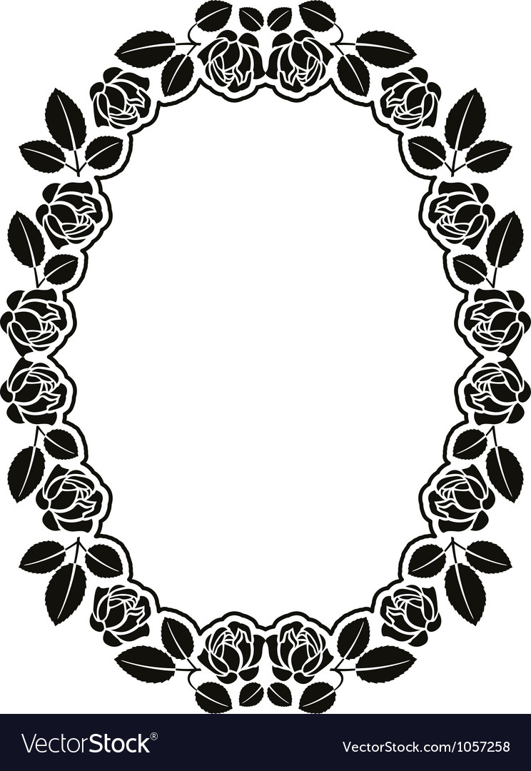 Border with roses vector | Price: 1 Credit (USD $1)