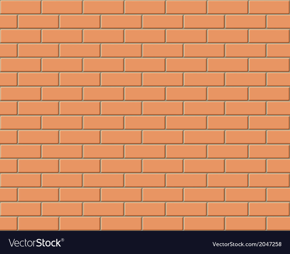 Brick wall seamless background vector | Price: 1 Credit (USD $1)