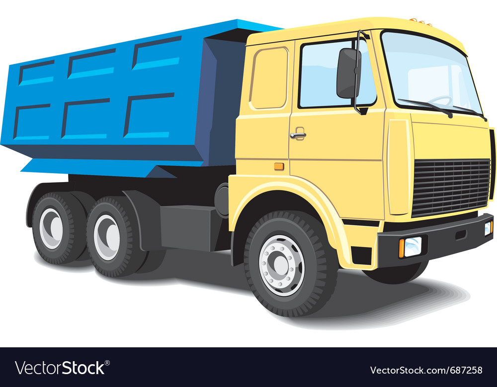 Dump truck vector | Price: 3 Credit (USD $3)