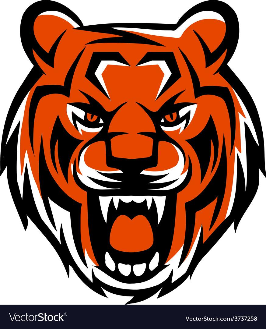 Evil tiger vector | Price: 1 Credit (USD $1)